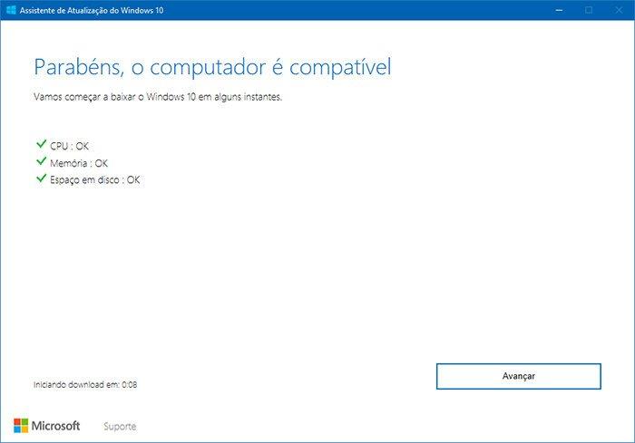 atualizar windows 10