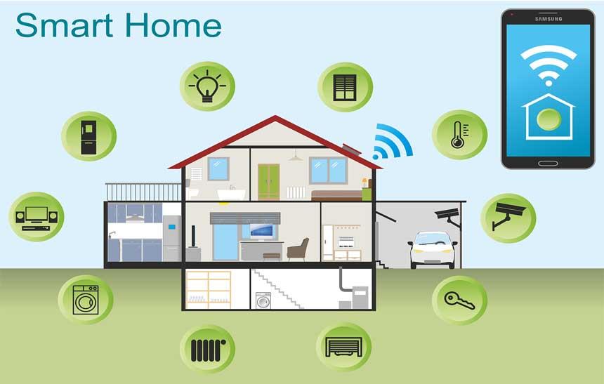 internet das coisas o que smart home ou casa inteligente. Black Bedroom Furniture Sets. Home Design Ideas