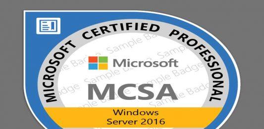 certificação windows server 2016 mcsa